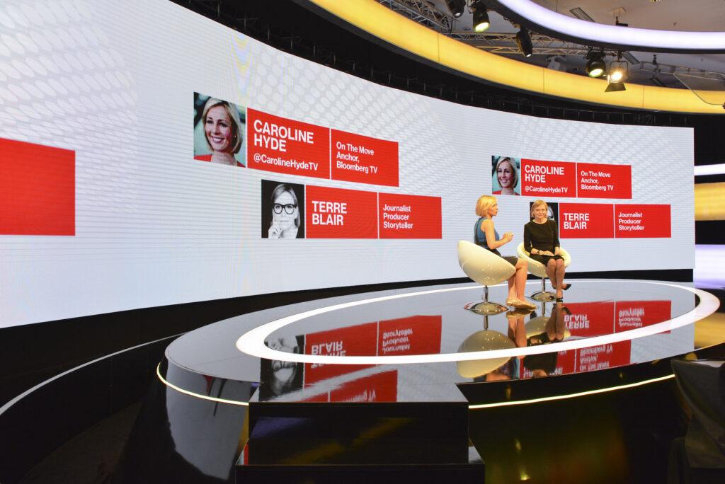 Motion Hall, Bloomberg Media presents: Big Problems, Big Thinkers LIVE, Terre Blair, Caroline Hyde, Jacki Kelley
