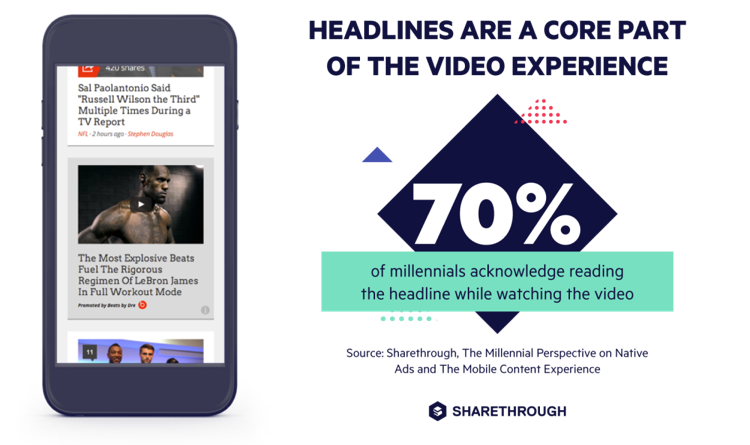 Headlines are core part of the video experience