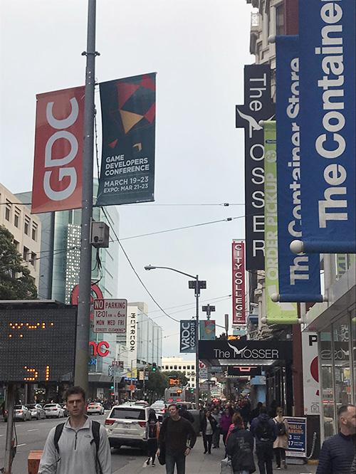 GDC開催中のサンフランシスコ市街